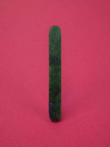 Untitled, Brooch, 2019, Nephrite, steel