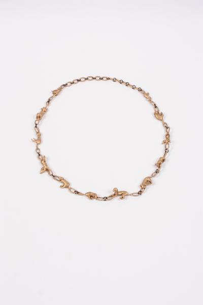 Amy, Necklace, 2018, Bronze, steel