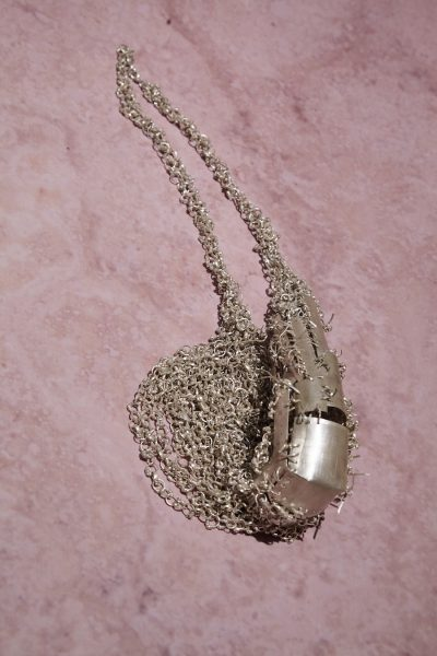 Sling, 2019, necklace; silver