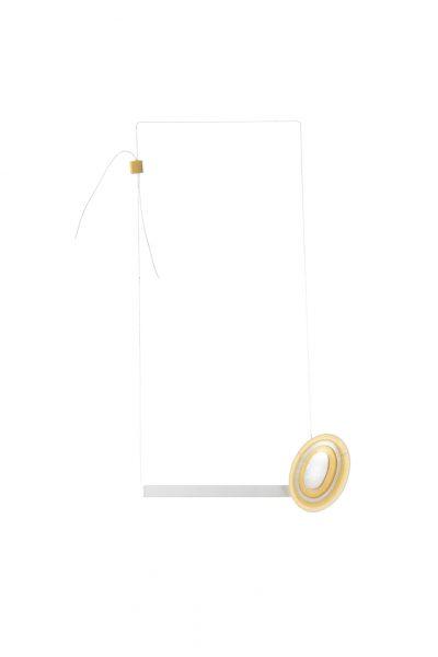 Afrodita, Necklace, 2017, mirror, glue, textile