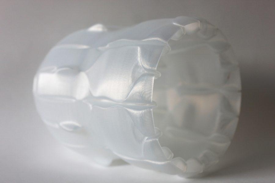 A bras le corps, 2017, cuffs; 3D printed nylon