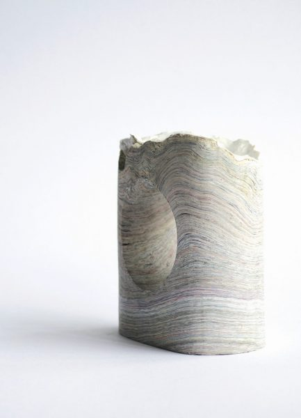 Oyster, Object, 2018, Pressed paper, oyster