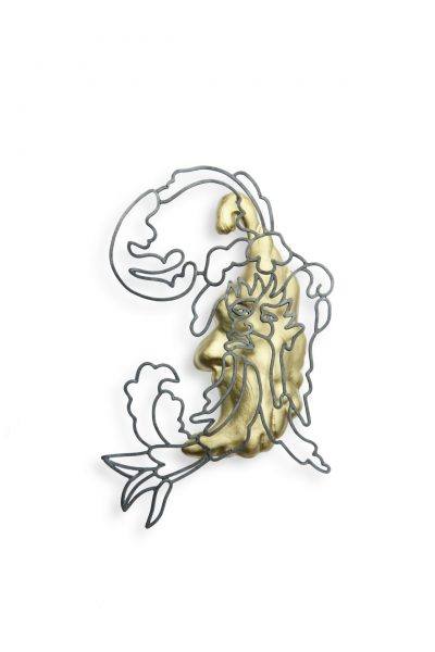 Koen Jacobs, Narcissus, 2020,Brooch, Silver 18k gold plated silver, €1450