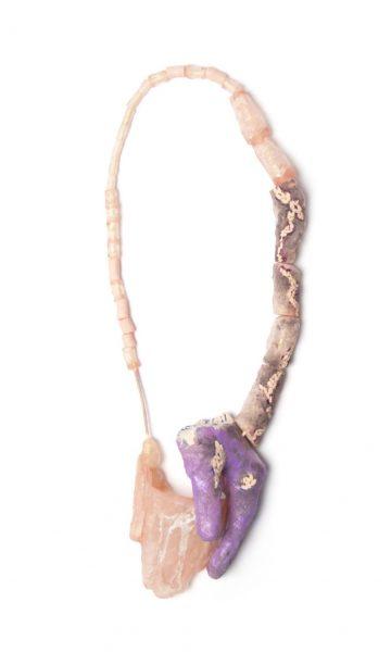 Pidā Kii (Keep Closed), Necklace, 2018, Acrylic, paint, clay, enamel