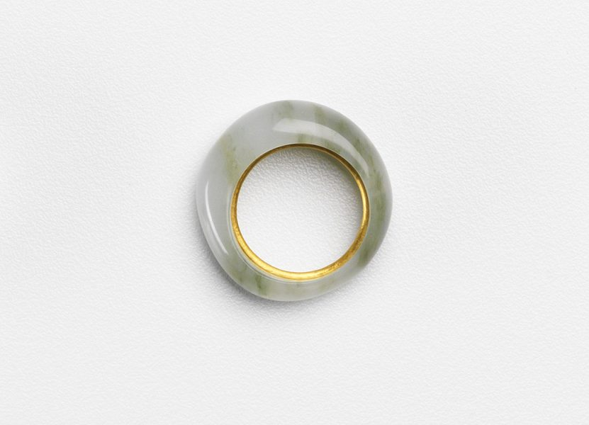 Talc Ring Half-Worn, 2019, ring; 24ct gold, talc (soapstone)