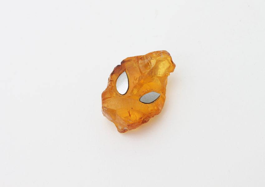 Spirit Stone, 2019, object; amber, mother of pearl